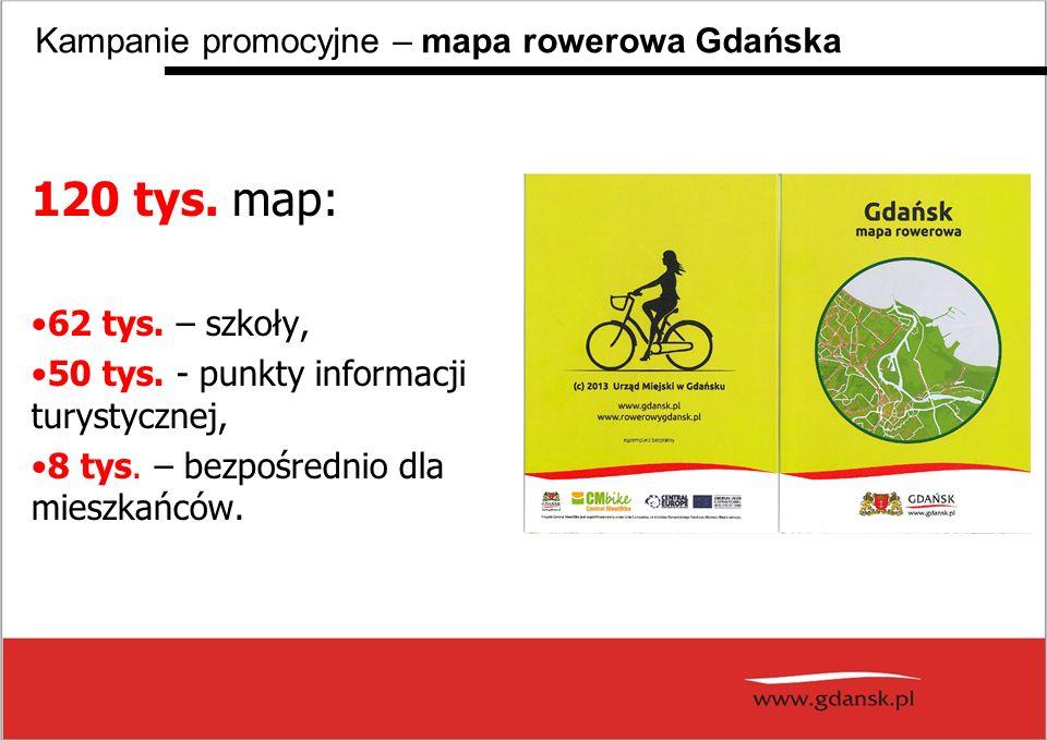 120 tys. map: Kampanie promocyjne – mapa rowerowa Gdańska