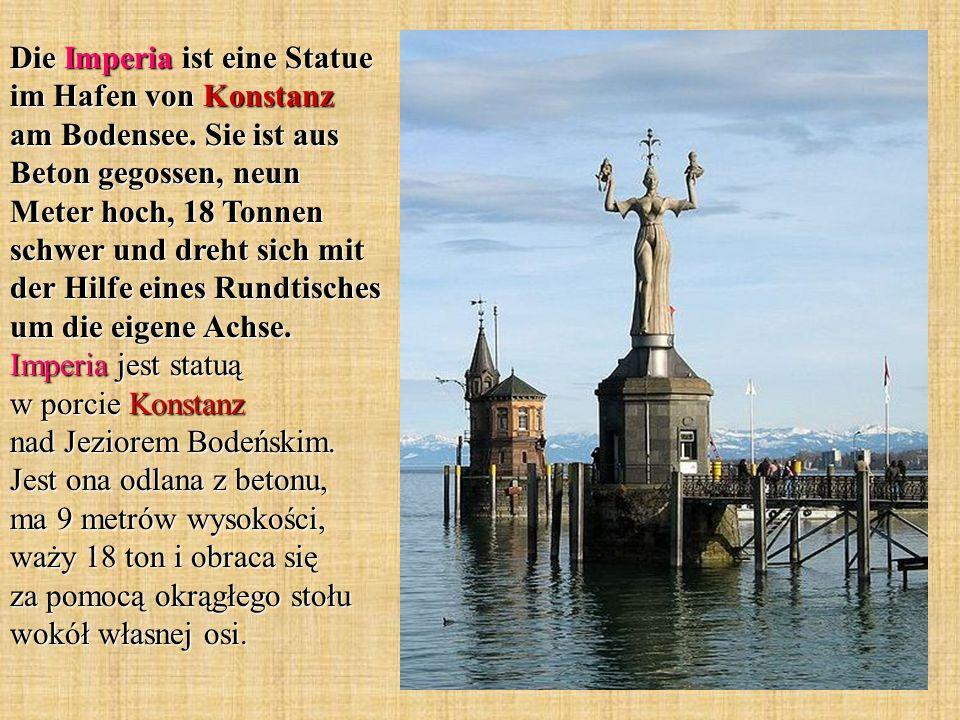 Die Imperia ist eine Statue im Hafen von Konstanz am Bodensee