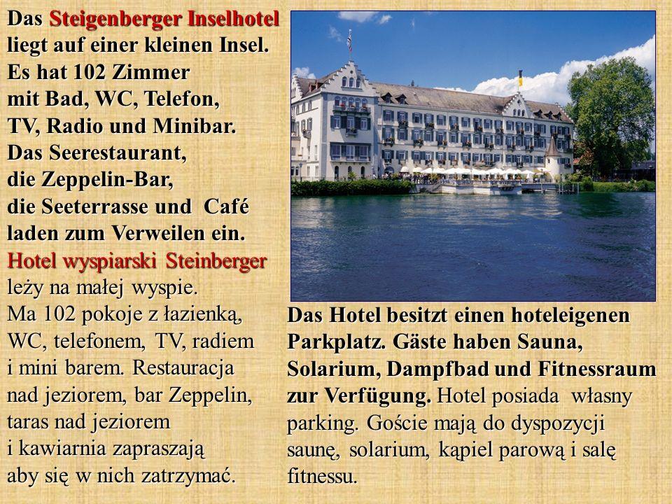 Das Steigenberger Inselhotel liegt auf einer kleinen Insel
