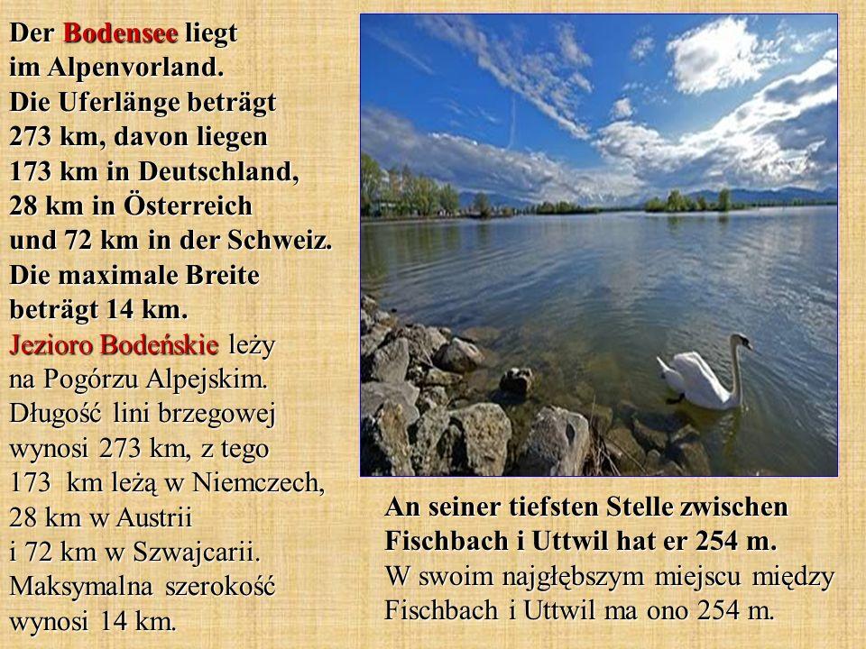 Der Bodensee liegt im Alpenvorland
