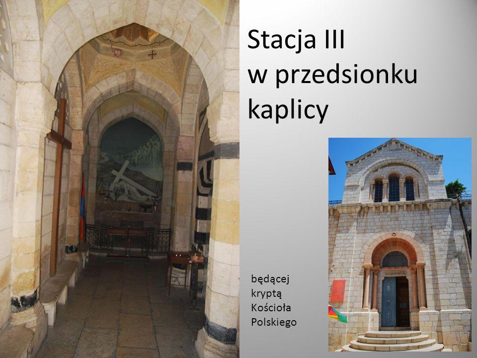 Stacja III w przedsionku kaplicy