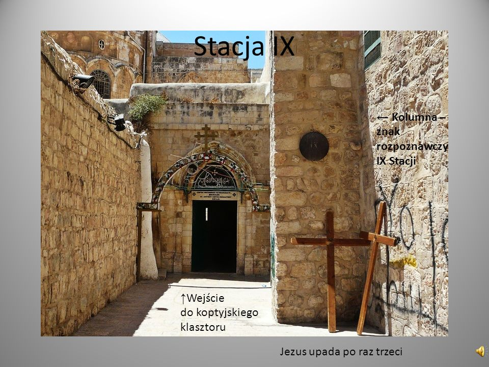 Stacja IX ← Kolumna – znak rozpoznawczy IX Stacji