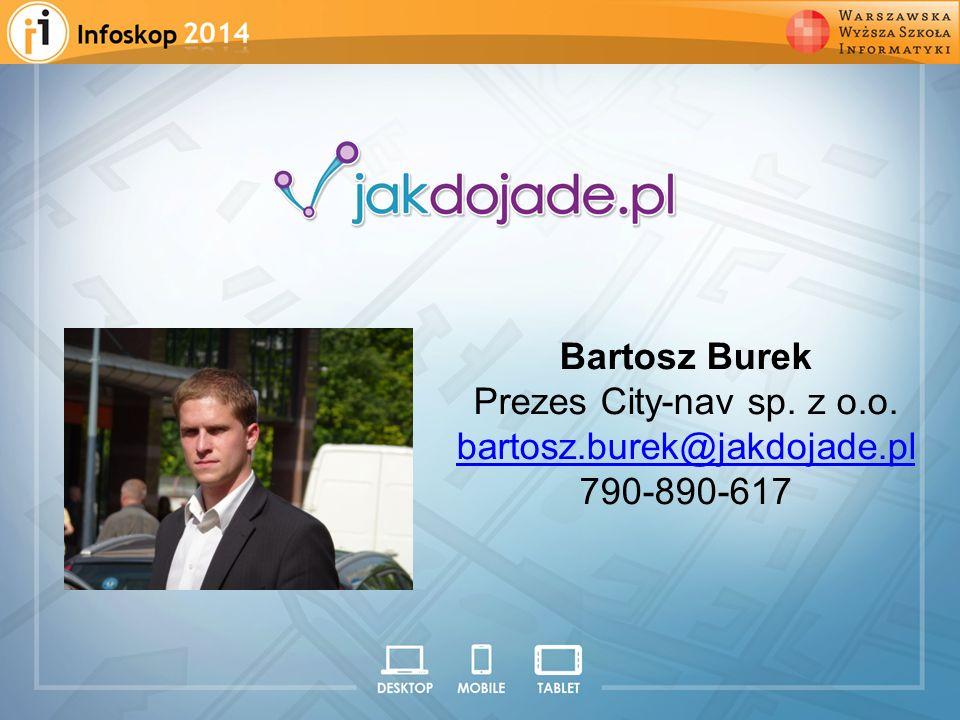 2008 2009 2010 2011 2012 Bartosz Burek Prezes City-nav sp. z o.o.