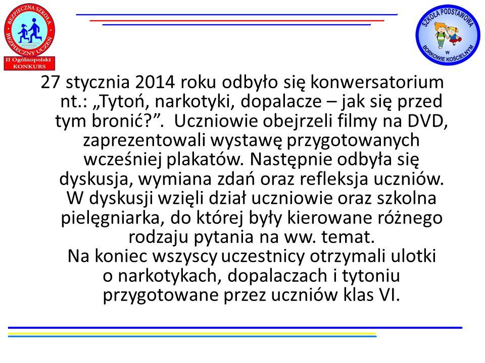 27 stycznia 2014 roku odbyło się konwersatorium nt
