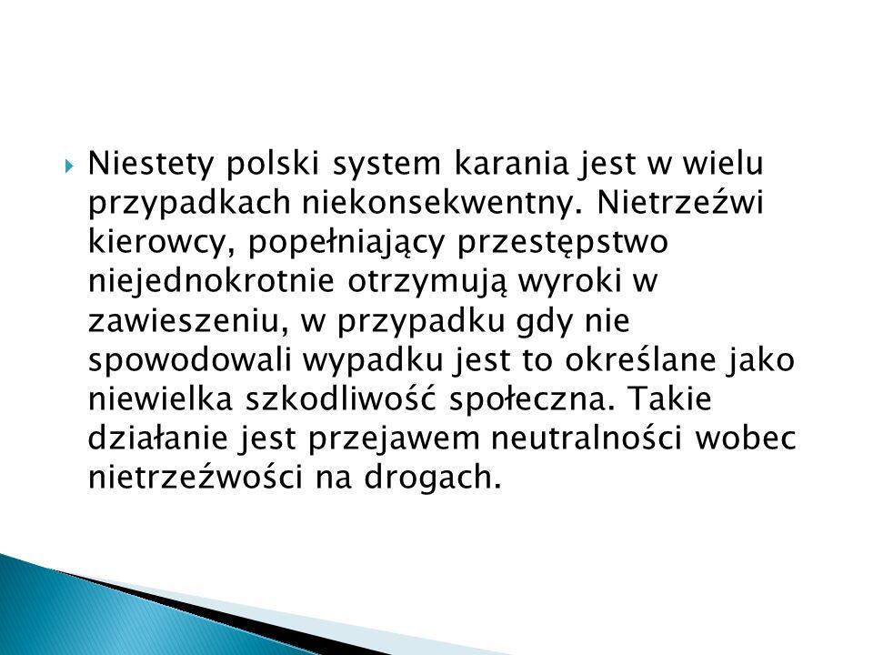 Niestety polski system karania jest w wielu przypadkach niekonsekwentny.