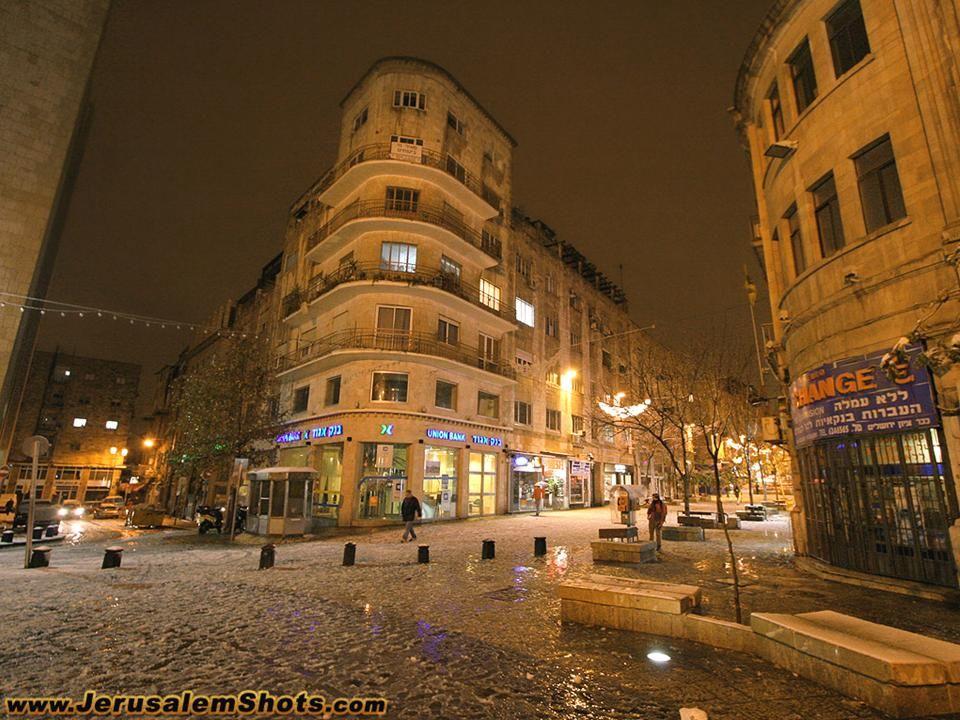 Ben Yeguda street in snow