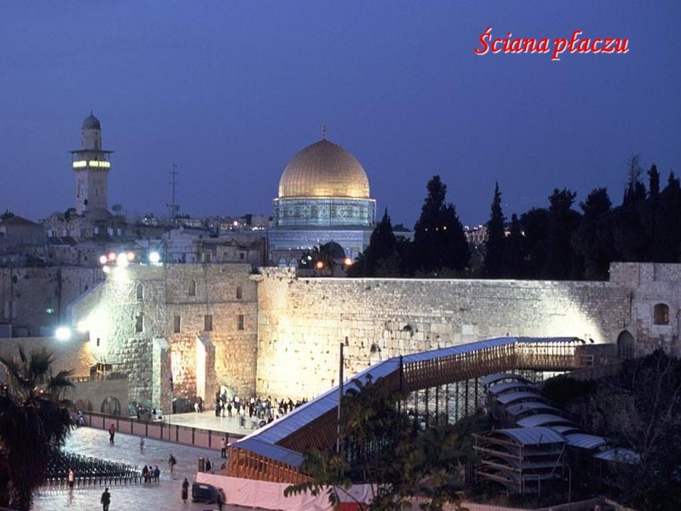 Ściana płaczu Western Wall And Omar Mosque Jerusalem Israel