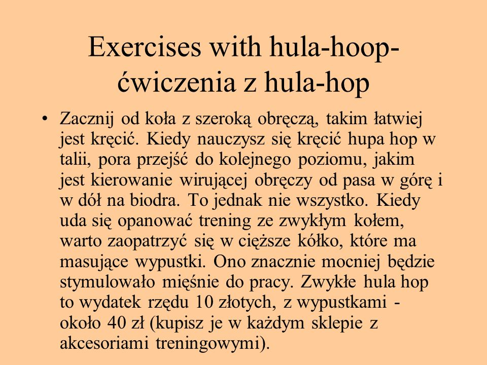 Exercises with hula-hoop-ćwiczenia z hula-hop