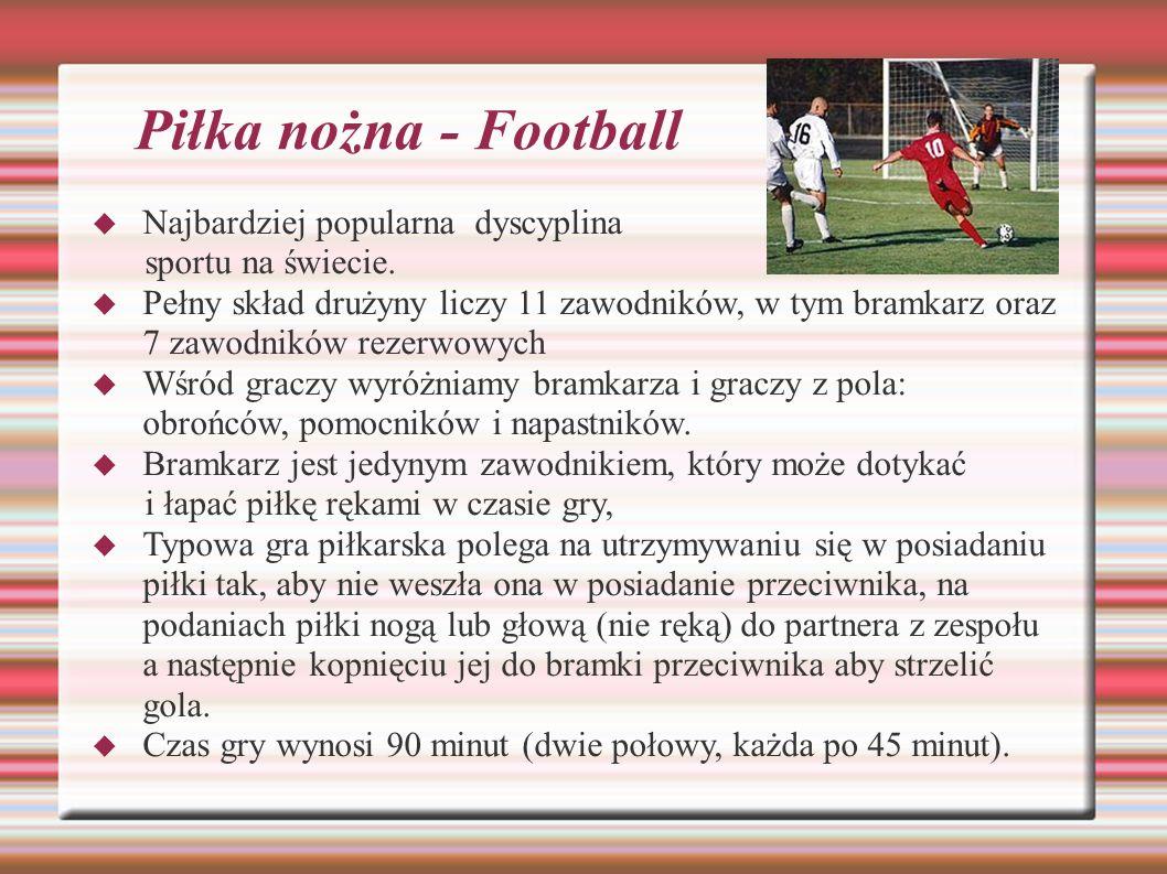 Piłka nożna - Football Najbardziej popularna dyscyplina