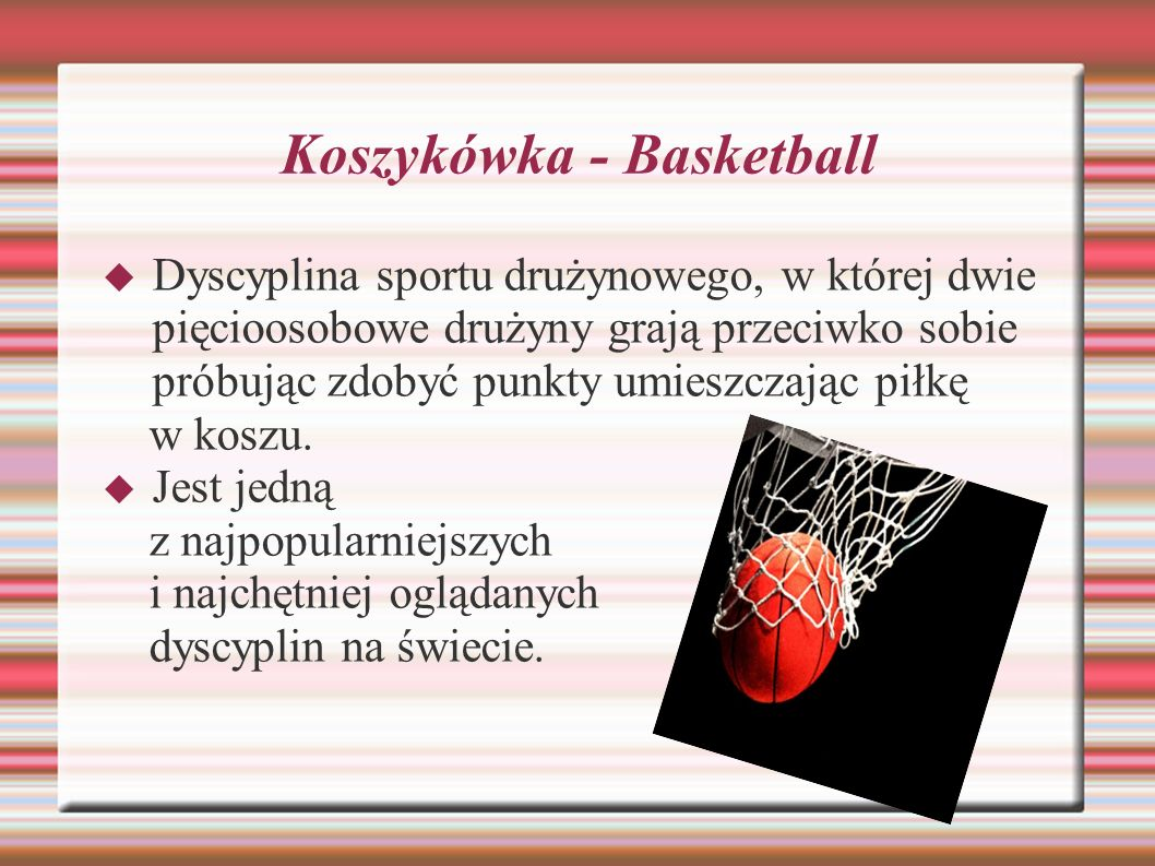 Koszykówka - Basketball