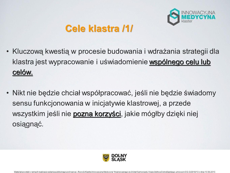 Cele klastra /1/