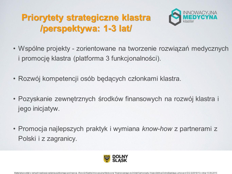 Priorytety strategiczne klastra