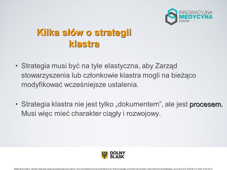 Kilka słów o strategii klastra