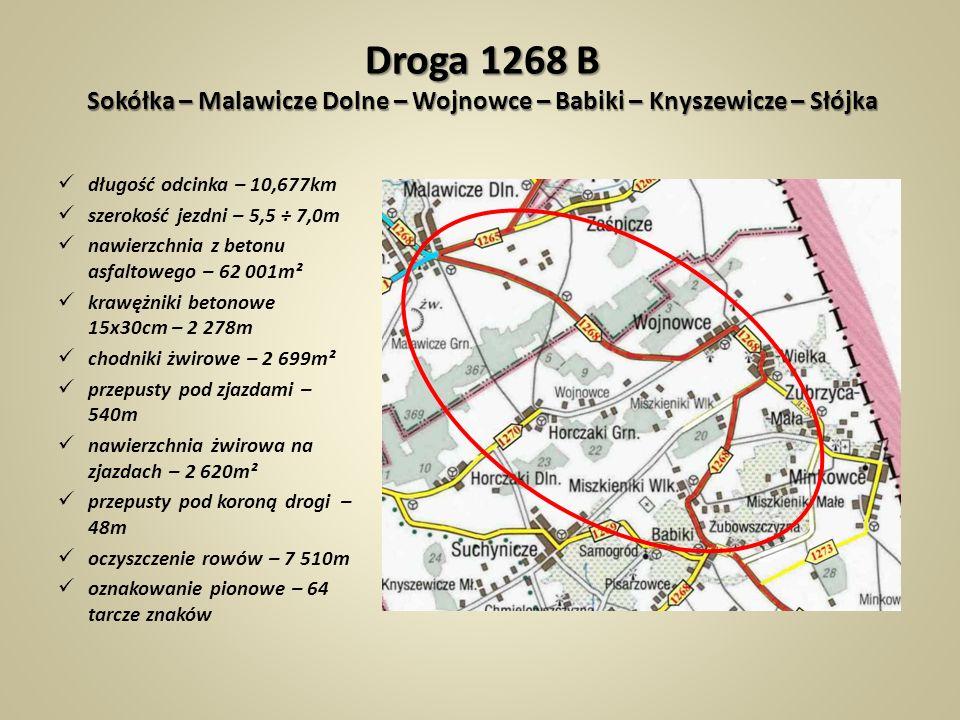 Droga 1268 B Sokółka – Malawicze Dolne – Wojnowce – Babiki – Knyszewicze – Słójka