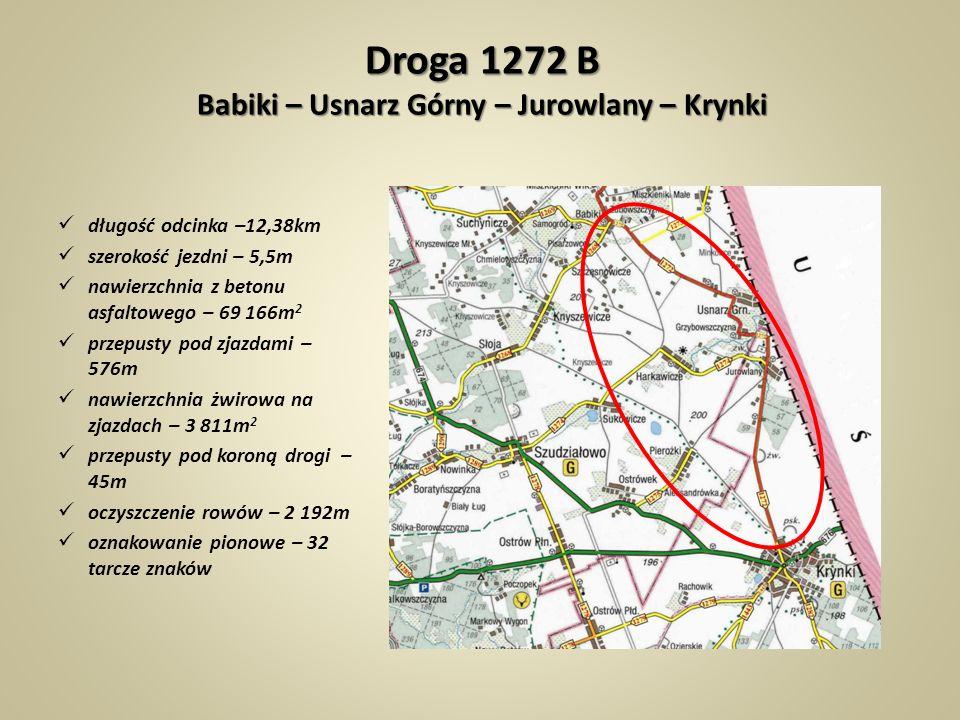 Droga 1272 B Babiki – Usnarz Górny – Jurowlany – Krynki
