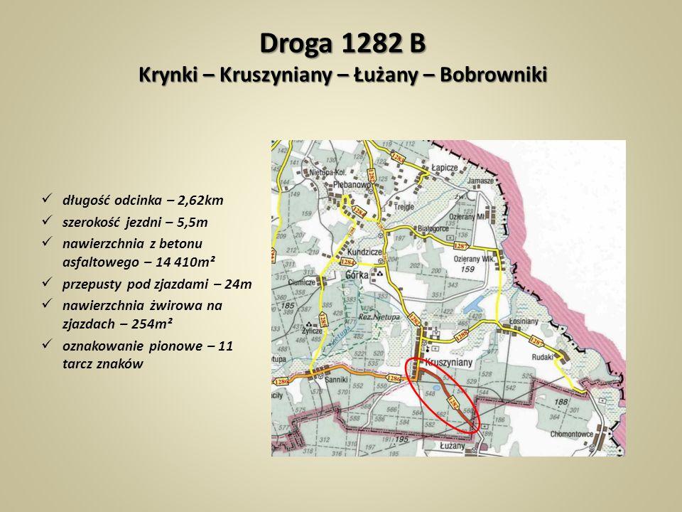 Droga 1282 B Krynki – Kruszyniany – Łużany – Bobrowniki
