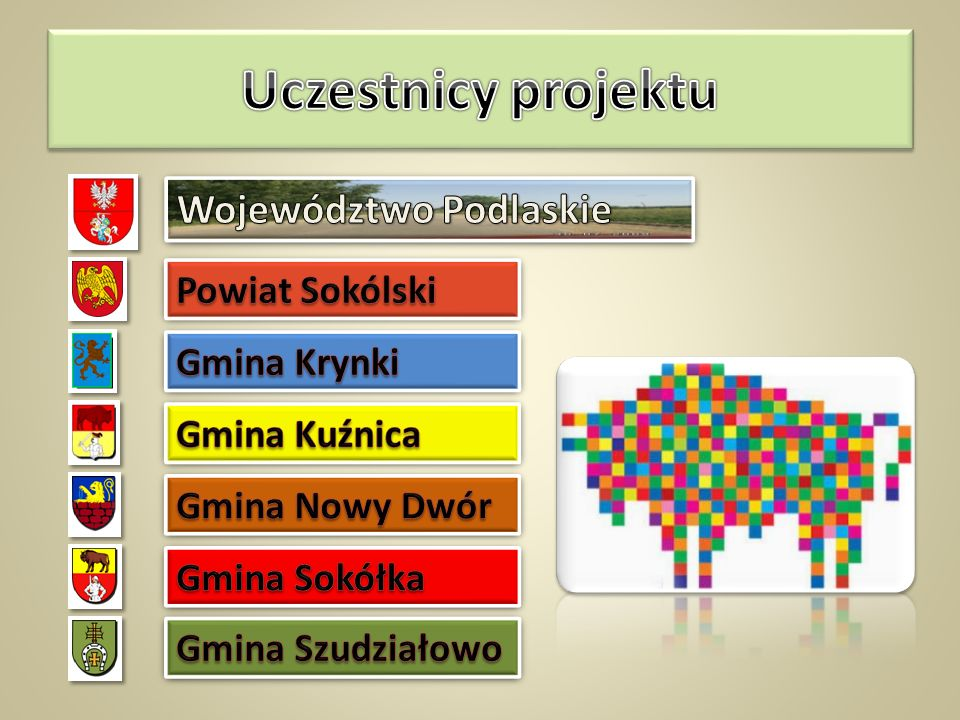 Uczestnicy projektu Województwo Podlaskie Powiat Sokólski Gmina Krynki