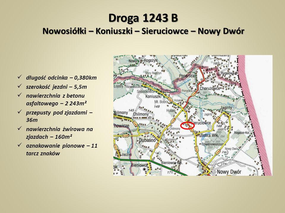 Droga 1243 B Nowosiółki – Koniuszki – Sieruciowce – Nowy Dwór