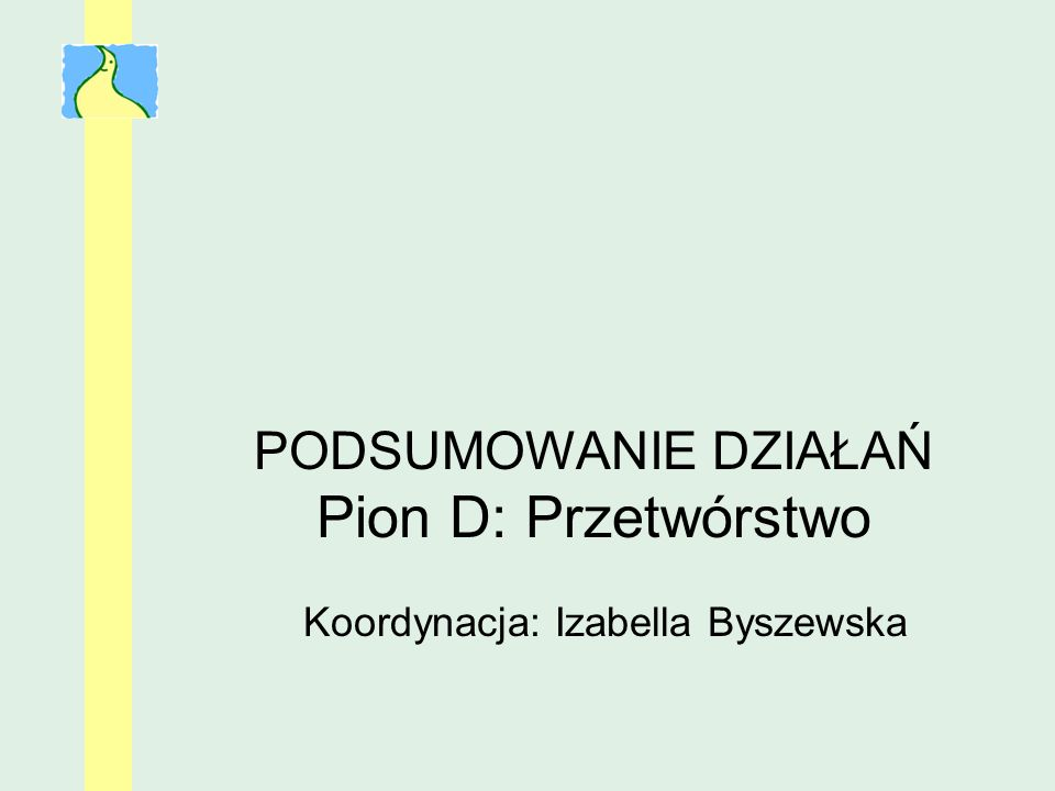 Koordynacja: Izabella Byszewska