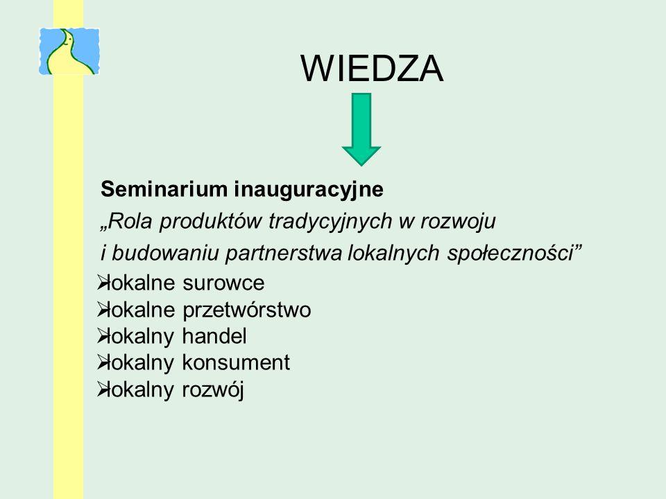 """WIEDZA Seminarium inauguracyjne """"Rola produktów tradycyjnych w rozwoju"""