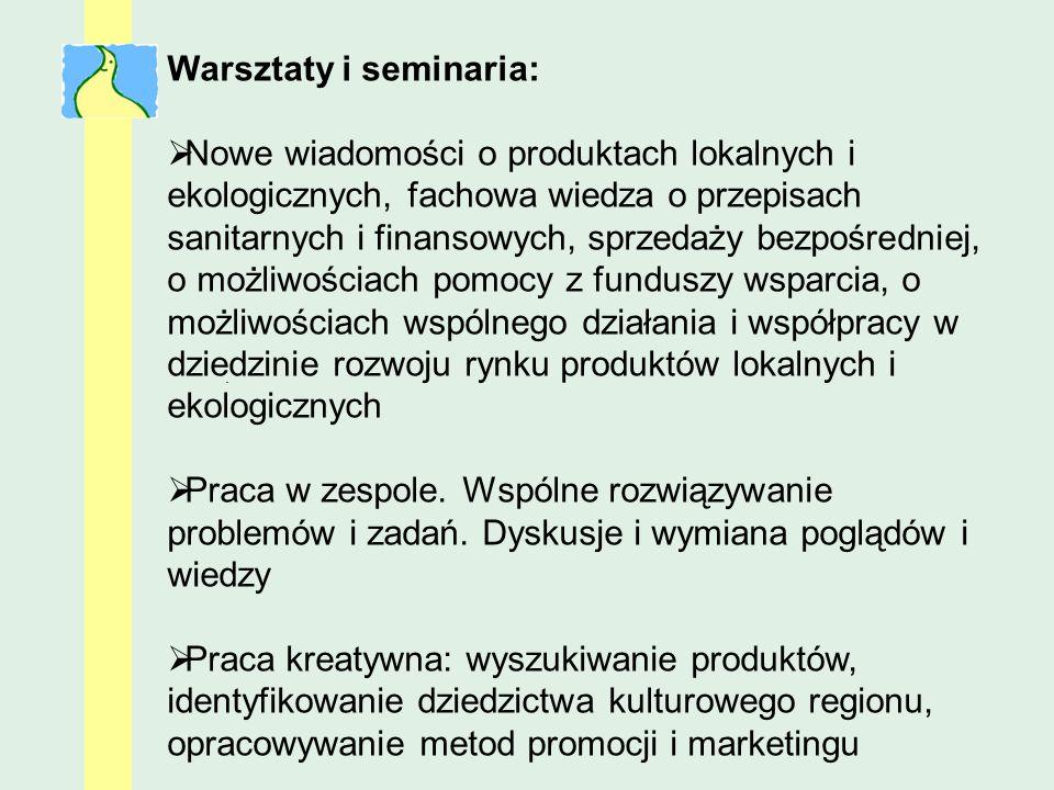 Warsztaty i seminaria:
