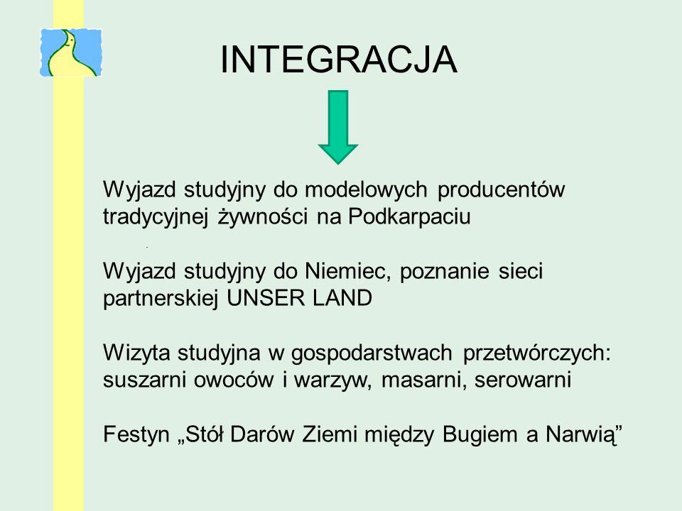 INTEGRACJA Wyjazd studyjny do modelowych producentów tradycyjnej żywności na Podkarpaciu.