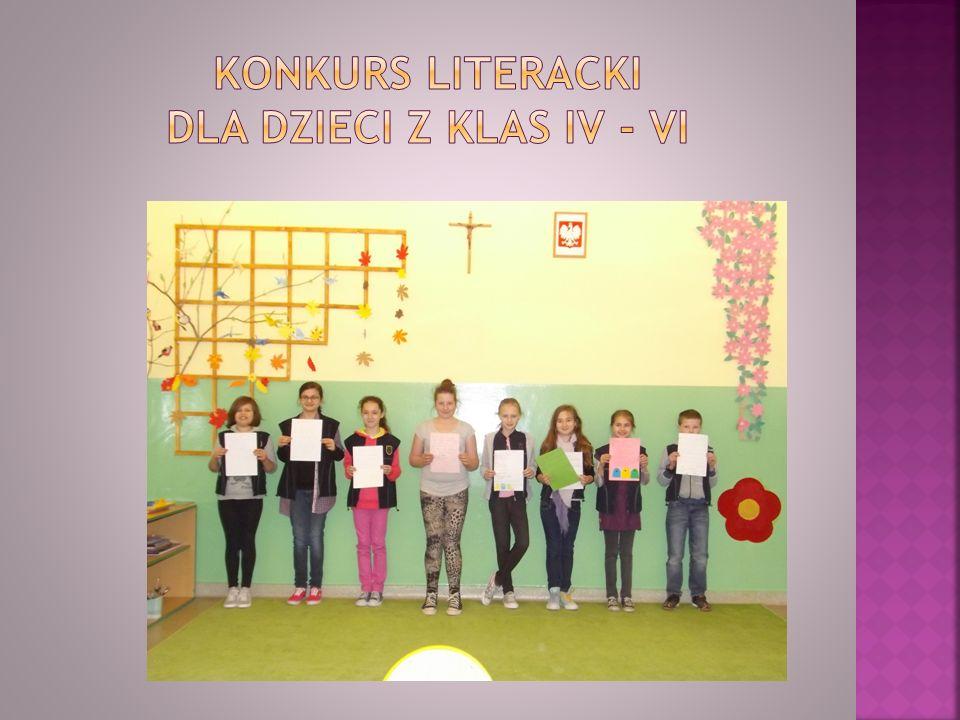 Konkurs literacki dla dzieci z klas IV - VI