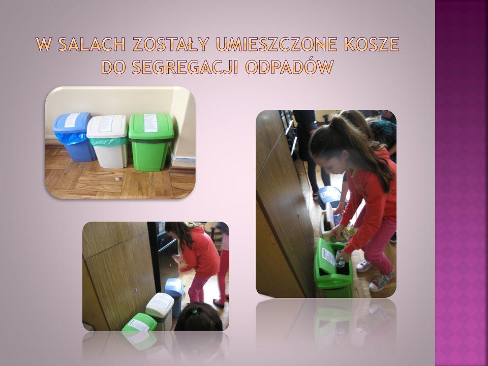W salach zostały umieszczone kosze do segregacji odpadów