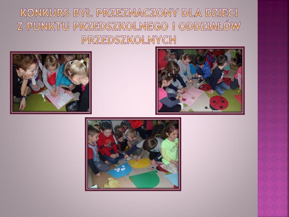 Konkurs był przeznaczony dla dzieci z punktu przedszkolnego i oddziałów przedszkolnych