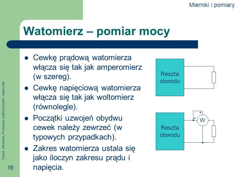 Watomierz – pomiar mocy