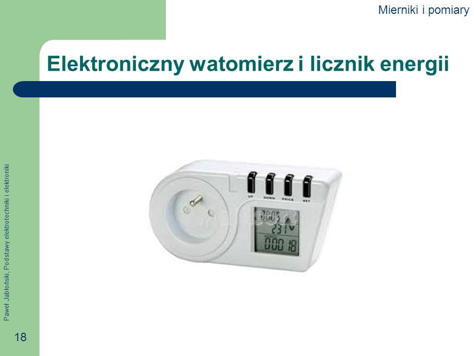 Elektroniczny watomierz i licznik energii