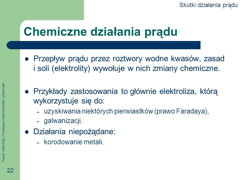 Chemiczne działania prądu
