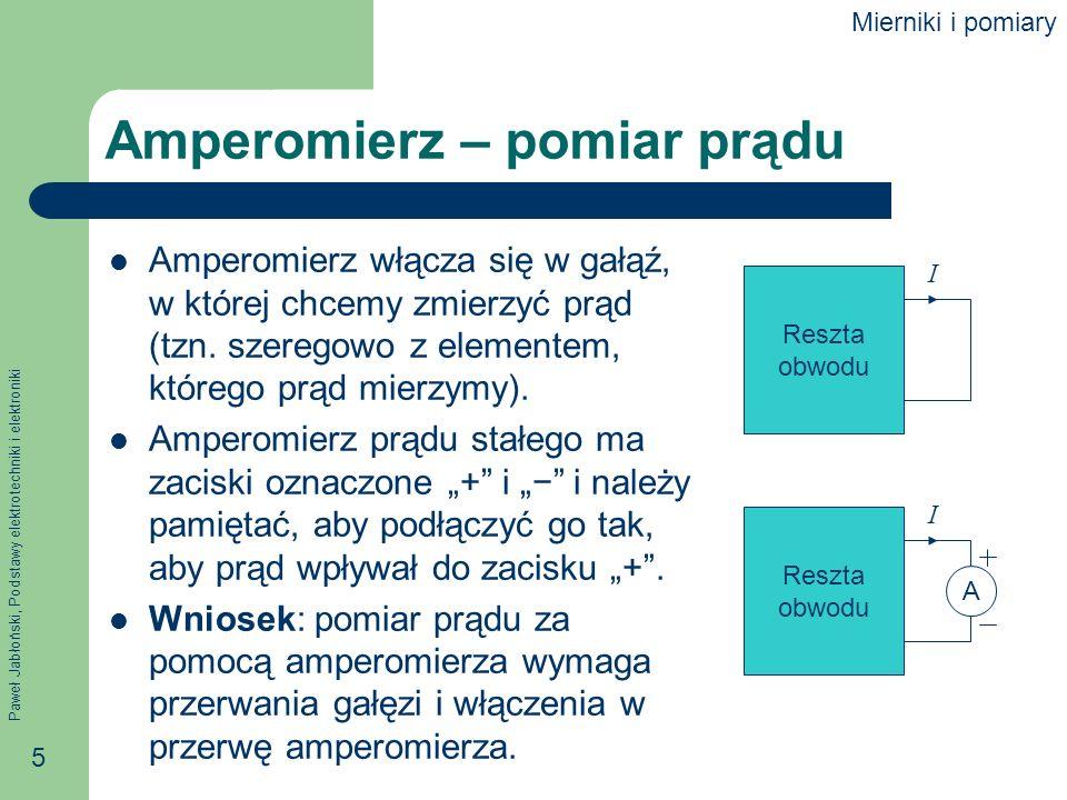 Amperomierz – pomiar prądu