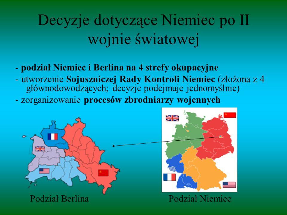 Decyzje dotyczące Niemiec po II wojnie światowej