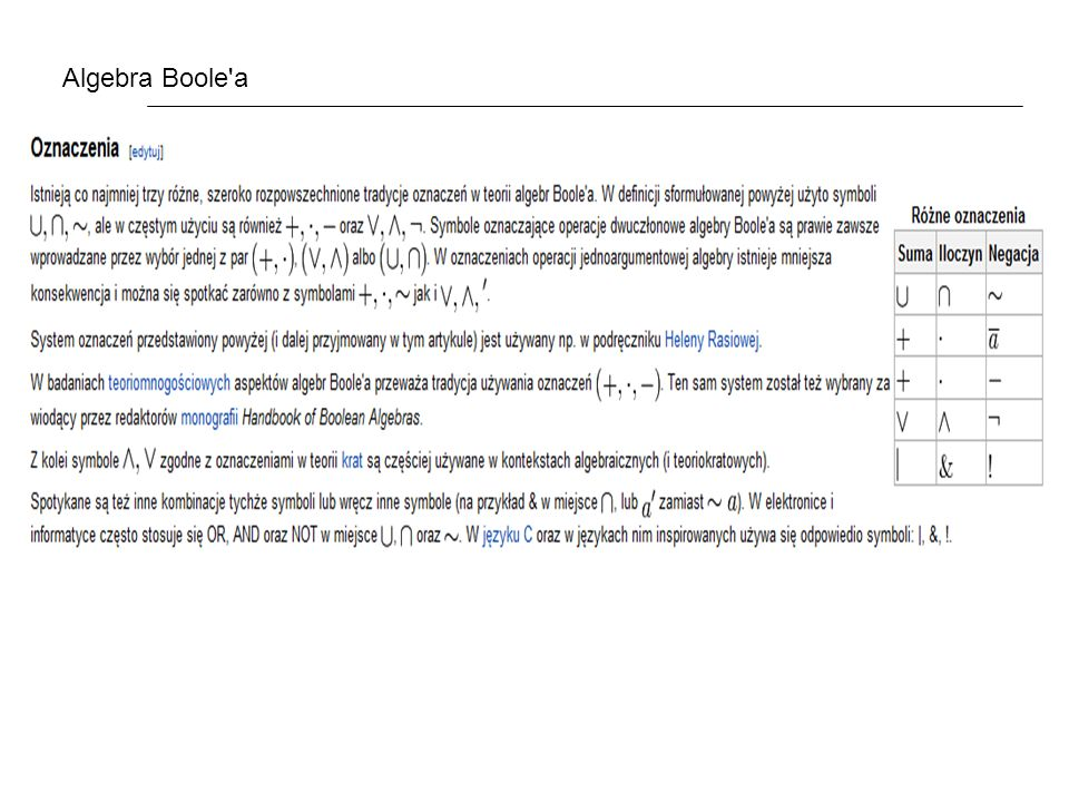 Algebra Boole a