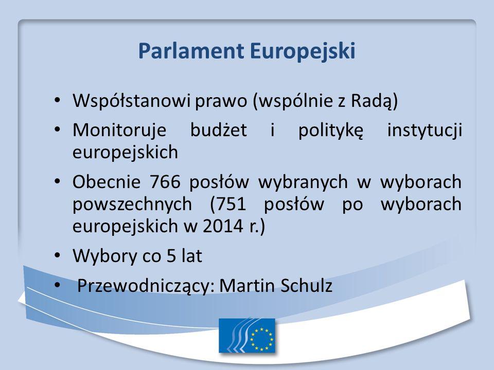 Parlament Europejski Współstanowi prawo (wspólnie z Radą)