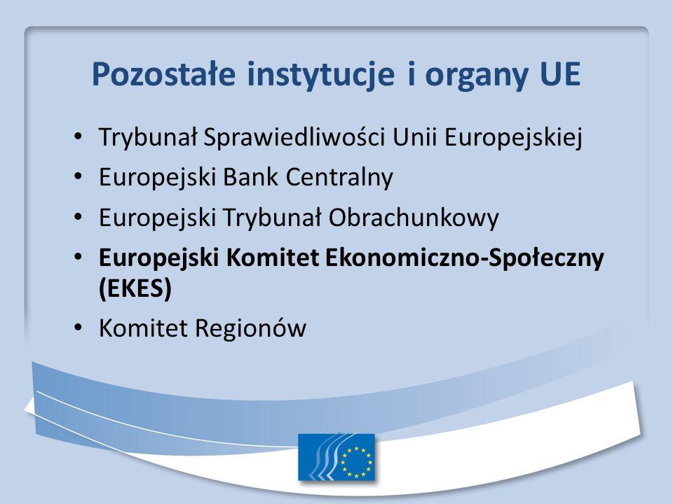 Pozostałe instytucje i organy UE