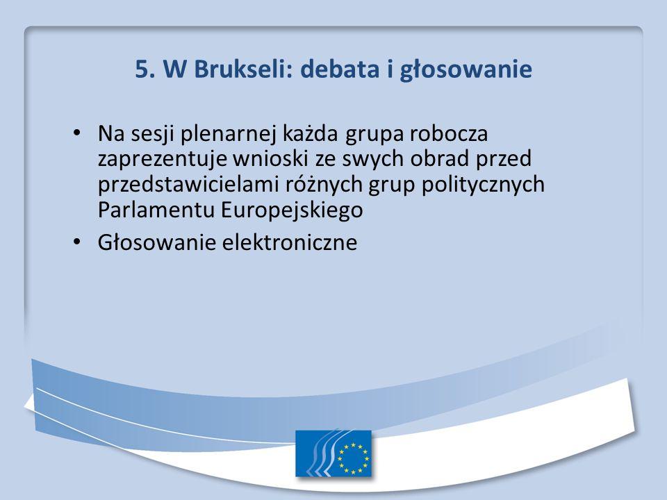 5. W Brukseli: debata i głosowanie