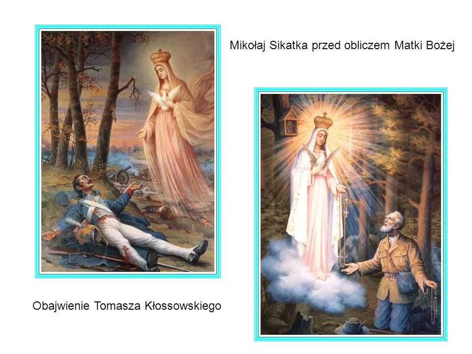 Mikołaj Sikatka przed obliczem Matki Bożej