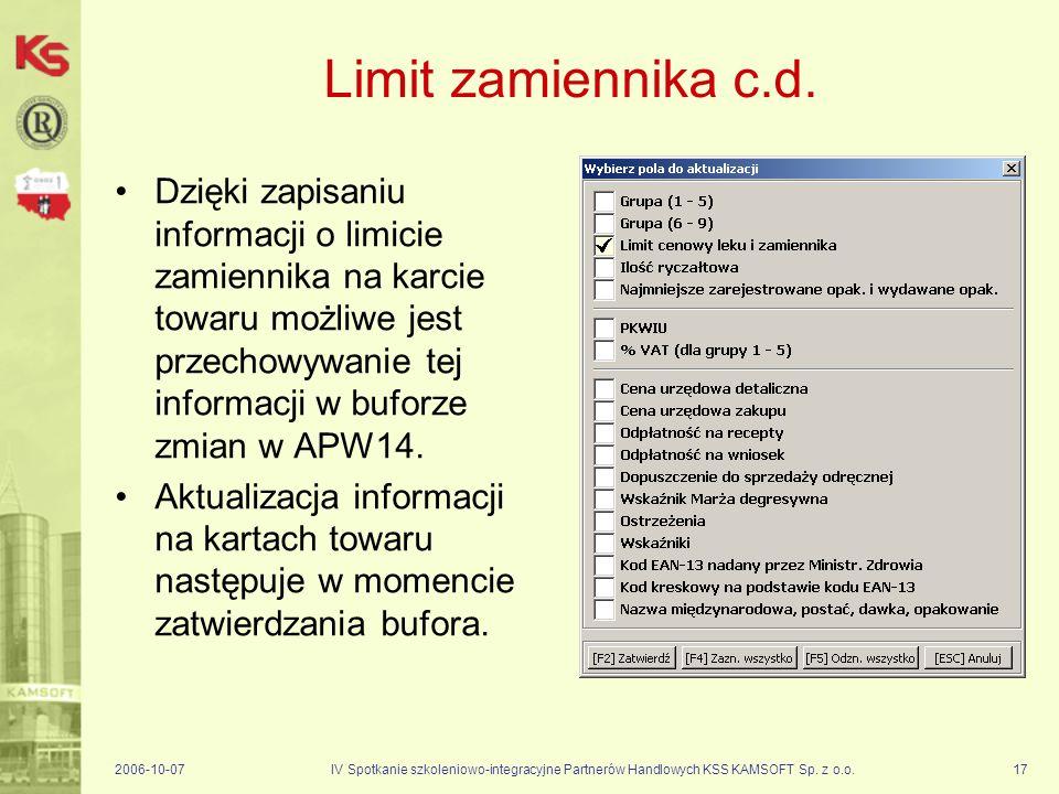 Limit zamiennika c.d.
