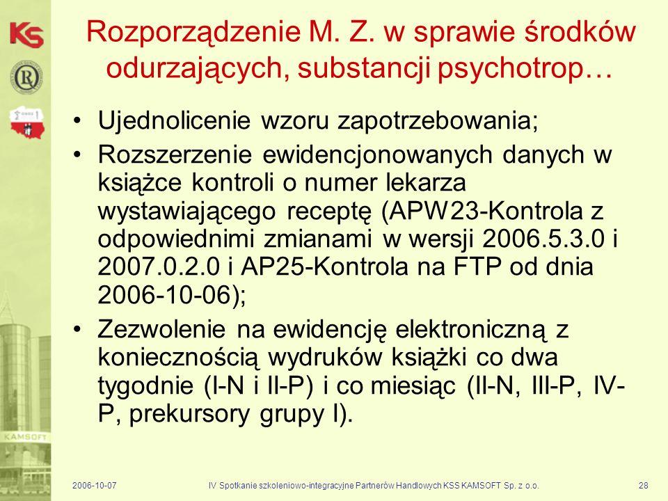 Rozporządzenie M. Z. w sprawie środków odurzających, substancji psychotrop…