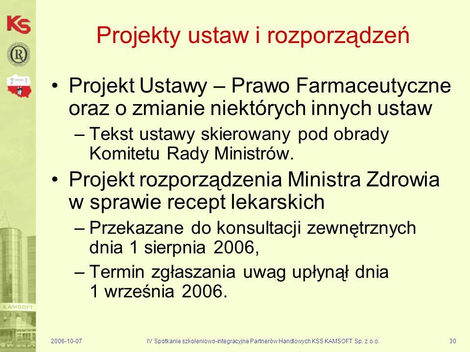 Projekty ustaw i rozporządzeń