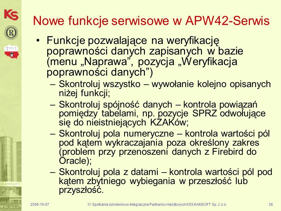 Nowe funkcje serwisowe w APW42-Serwis