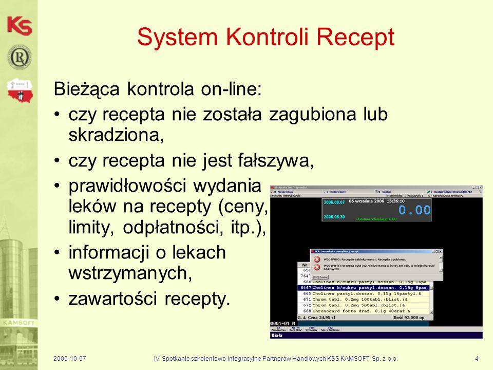 System Kontroli Recept