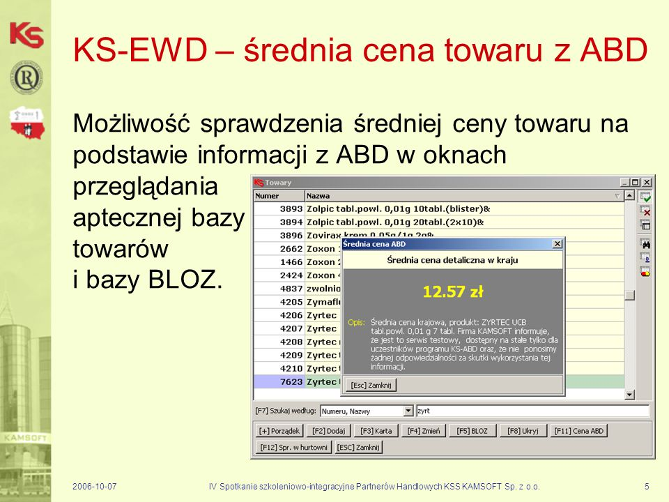 KS-EWD – średnia cena towaru z ABD