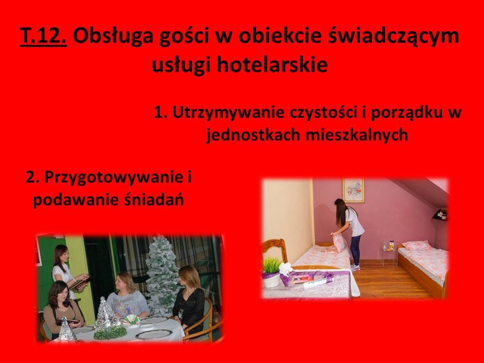 T.12. Obsługa gości w obiekcie świadczącym usługi hotelarskie