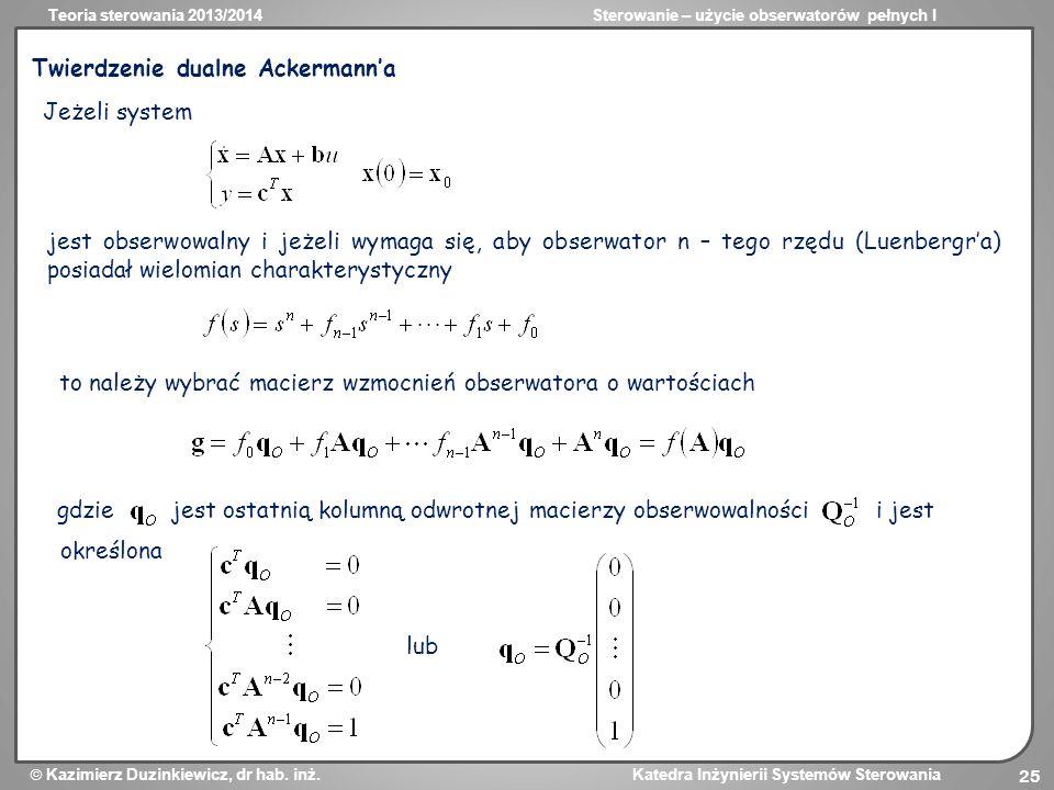 Twierdzenie dualne Ackermann'a