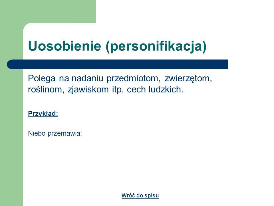 Uosobienie (personifikacja)