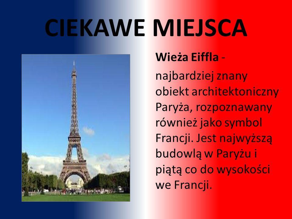 CIEKAWE MIEJSCA Wieża Eiffla -