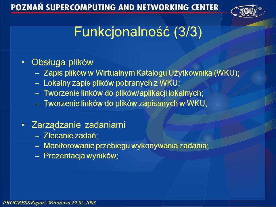 Funkcjonalność (3/3) Obsługa plików Zarządzanie zadaniami